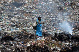Indian Waste Dump Worker